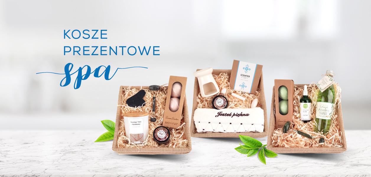 Kosze prezentowe SPA z kosmetykami do aromaterapii