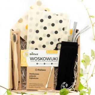 EKO BOX - Zestaw ekologiczny z woskowijkami ZERO WASTE
