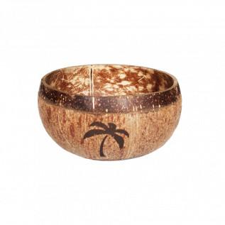 Naturalna miska z łupiny kokosa - grawer Palma
