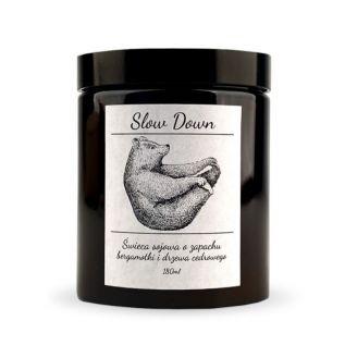 Świeca zapachowa SOJOWA w szkle SLOW DOWN 180ml
