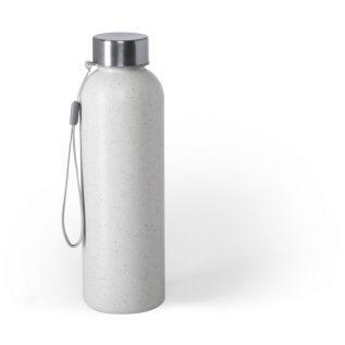 Butelka sportowa 600 ml z włókna bambusowego biała