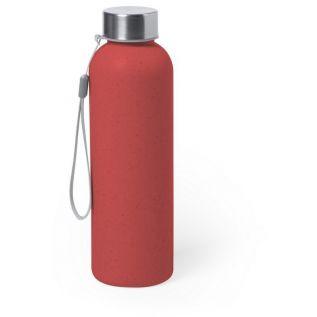 Butelka sportowa 600 ml z włókna bambusowego czerwona