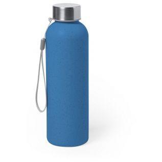 Butelka sportowa 600 ml z włókna bambusowego niebieska