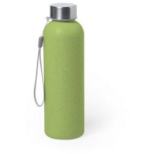 Butelka sportowa 600 ml z włókna bambusowego zielona