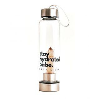 Butelka szklana z KWARCEM DYMNYM