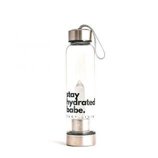 Butelka szklana z KRYSZTAŁEM GÓRSKIM