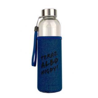Butelka szklana w neoprenowym etui 500 ml Teraz albo nigdy! JEANS