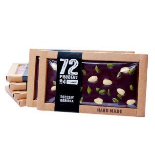 Czekolada czarna (72%) 105 g pistacja + migdał KRÓTKI TERMIN