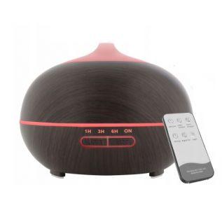 Nawilżacz powietrza do aromaterapii - dyfuzor zapachowy 350ml CIEMNOBRĄZOWY