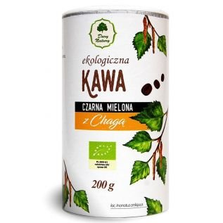 Ekologiczna kawa czarna mielona z Chagą 200g EKO  - Dary Natury