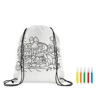 Kolorowanki dla dzieci - worek ze sznurkiem do kolorowania ZAMEK