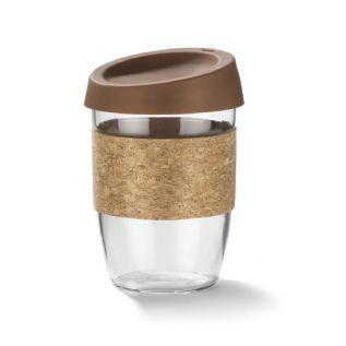 Kubek szklany SKLO 380ml brązowy