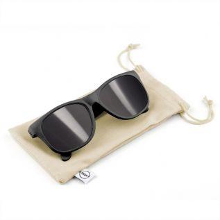 Okulary przeciwsłoneczne B'RIGHT ze słomy pszenicznej czarne