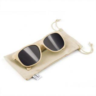 Okulary przeciwsłoneczne B'RIGHT ze słomy pszenicznej kremowe