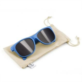 Okulary przeciwsłoneczne B'RIGHT ze słomy pszenicznej niebieskie