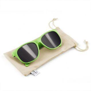 Okulary przeciwsłoneczne B'RIGHT ze słomy pszenicznej zielone