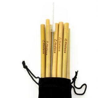 Ekologiczne bambusowe słomki 10 szt.