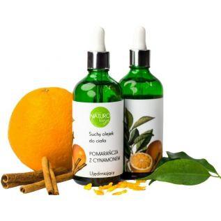 Naturalny, suchy olejek do ciała POMARAŃCZA Z CYNAMONEM 100ml