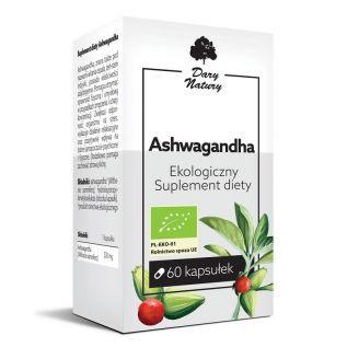 Suplement diety - Ashwagandha EKO 60 kapsułek - Dary Natury
