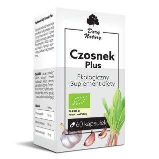 Suplement diety - Czosnek plus EKO 60 kapsułek - Dary Natury