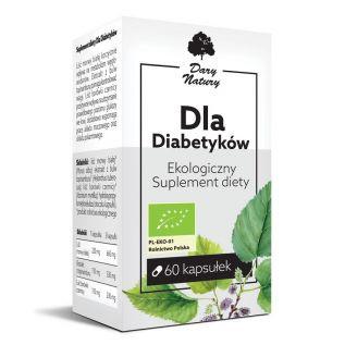 Suplement diety - Dla Diabetyków EKO 60 kapsułek - Dary Natury