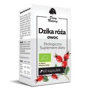 Suplement diety - Dzika róża owoc EKO 60 kapsułek - Dary Natury