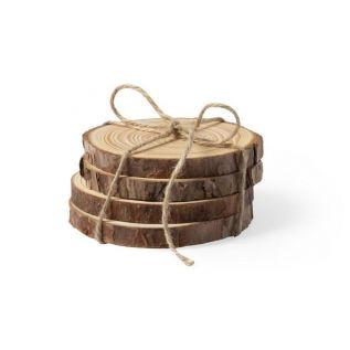 Zestaw drewnianych podkładek 4szt
