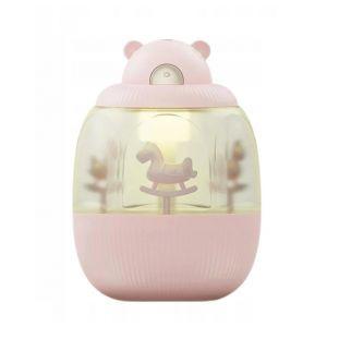 Nawilżacz powietrza - dyfuzor zapachowy dla dzieci MIŚ KARUZELA Z POZYTYWKĄ RÓŻ